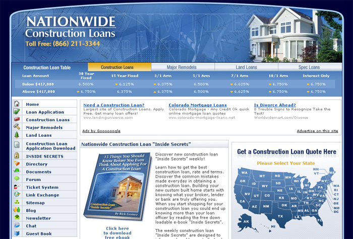Nationwide Construction Loans